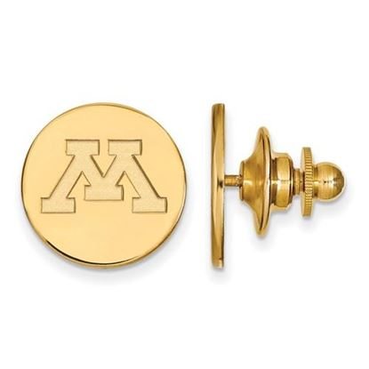 Picture of University of Minnesota Golden Gophers Sterling Silver Gold Plated Lapel Pin