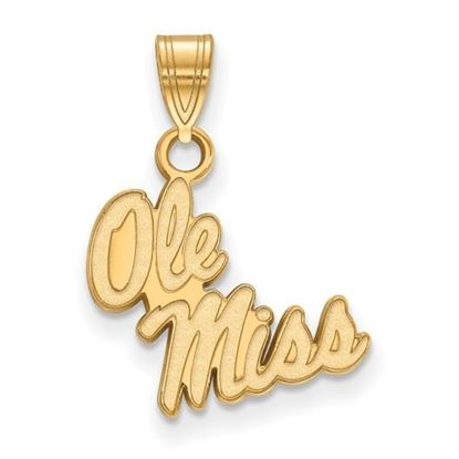 Picture of University of Mississippi Rebels Sterling Silver Gold Plated Small Pendant
