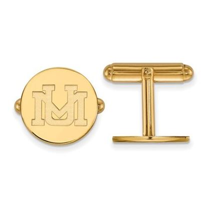 Picture of University of Montana Grizzlies Sterling Silver Gold Plated Cuff Links