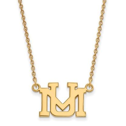 Picture of University of Montana Grizzlies Sterling Silver Gold Plated Small Necklace