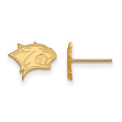 Picture of University of New Hampshire Wildcats Sterling Silver Gold Plated Extra Small Post Earrings