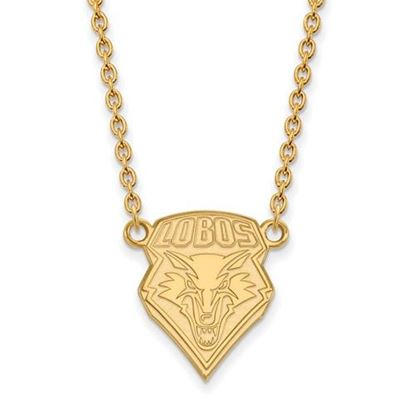 Picture of University of New Mexico Lobos Sterling Silver Gold Plated Large Necklace