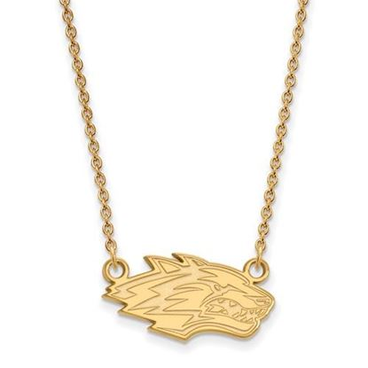 Picture of University of New Mexico Lobos Sterling Silver Gold Plated Small Necklace