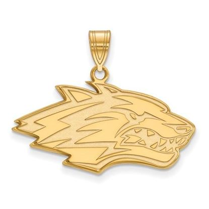 Picture of University of New Mexico Lobos Sterling Silver Gold Plated Large Pendant