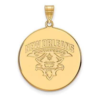 Picture of University of New Orleans Privateers Sterling Silver Gold Plated Extra Large Disc Pendant