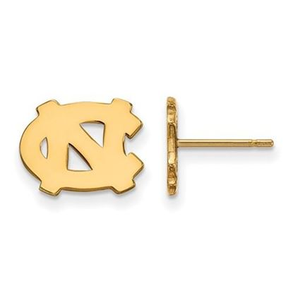 Picture of University of North Carolina Tar Heels Sterling Silver Gold Plated Extra Small Post Earrings