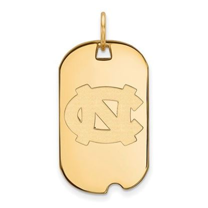 Picture of University of North Carolina Tar Heels Sterling Silver Gold Plated Small Dog Tag
