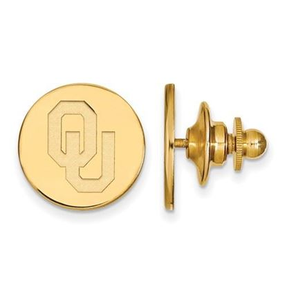 Picture of University of Oklahoma Sooners Sterling Silver Gold Plated Lapel Pin