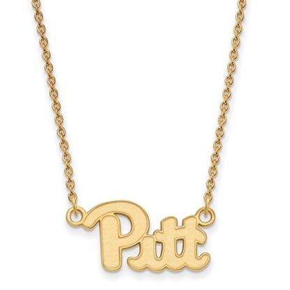 Picture of University of Pittsburgh Panthers Sterling Silver Gold Plated Small Necklace