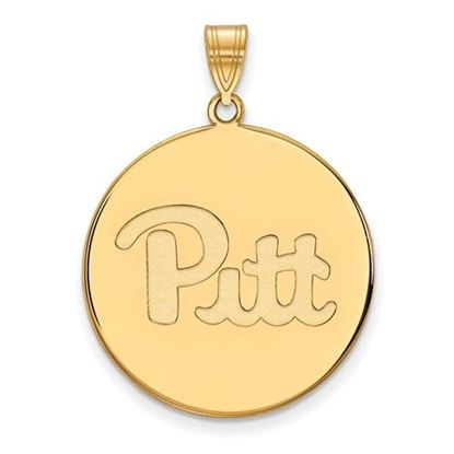 Picture of University of Pittsburgh Panthers Sterling Silver Gold Plated Extra Large Disc Pendant