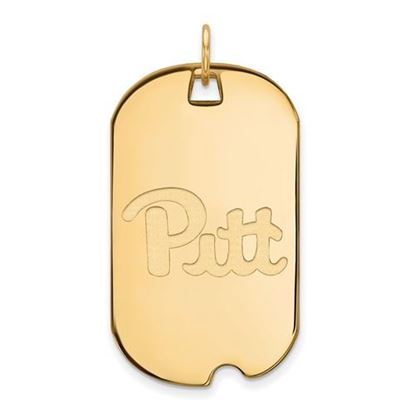 Picture of University of Pittsburgh Panthers Sterling Silver Gold Plated Large Dog Tag