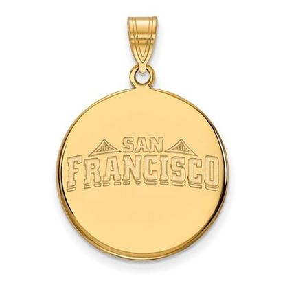 Picture of University of San Francisco Dons Sterling Silver Gold Plated Large Disc Pendant