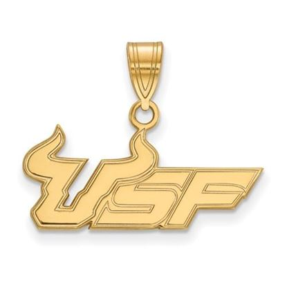 Picture of University of South Florida Bulls Sterling Silver Gold Plated Medium Pendant
