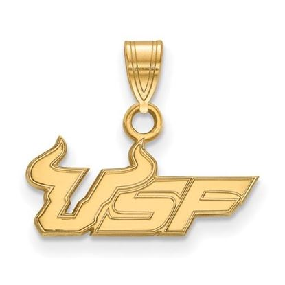 Picture of University of South Florida Bulls Sterling Silver Gold Plated Small Pendant