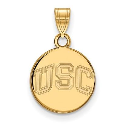 Picture of University of Southern California Trojans Sterling Silver Gold Plated Small Disc Pendant