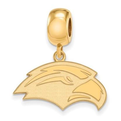 Picture of University of Southern Mississippi Golden Eagles Sterling Silver Gold Plated Small Dangle Bead