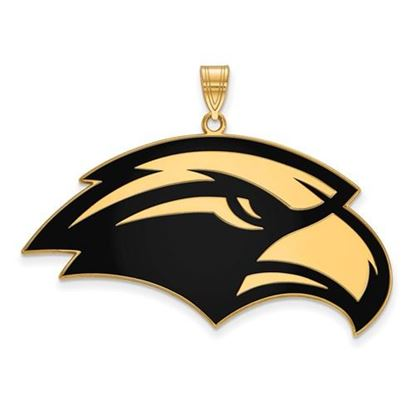 Picture of University of Southern Mississippi Golden Eagles Sterling Silver Gold Plated Extra Large Enameled Pendant