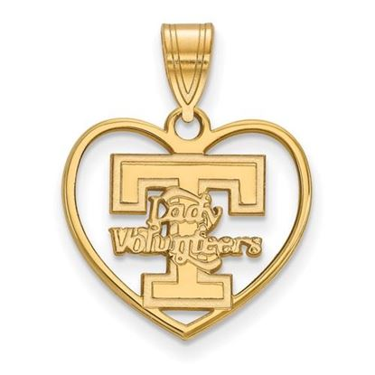 Picture of University of Tennessee Volunteers Sterling Silver Gold Plated Heart Pendant