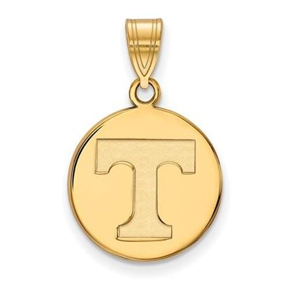Picture of University of Tennessee Volunteers Sterling Silver Gold Plated Medium Disc Pendant