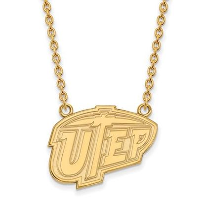 Picture of University of Texas at El Paso Miners Sterling Silver Gold Plated Large Necklace