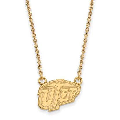 Picture of University of Texas at El Paso Miners Sterling Silver Gold Plated Small Necklace