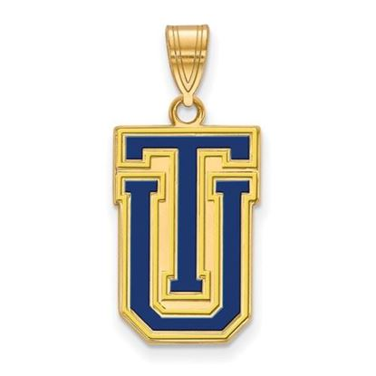 Picture of University of Tulsa Golden Hurricanes Sterling Silver Gold Plated Large Enameled Pendant