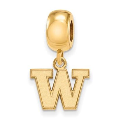 Picture of University of Washington Huskies Sterling Silver Gold Plated Extra Small Bead Charm