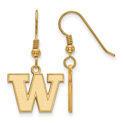 Picture of University of Washington Huskies Sterling Silver Gold Plated Small Dangle Earrings