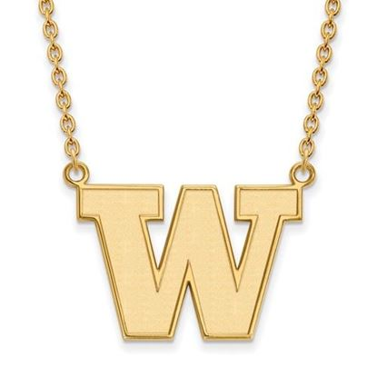 Picture of University of Washington Huskies Sterling Silver Gold Plated Large Necklace