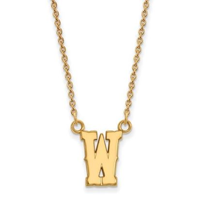 Picture of University of Wyoming Cowboys Sterling Silver Gold Plated Small Necklace