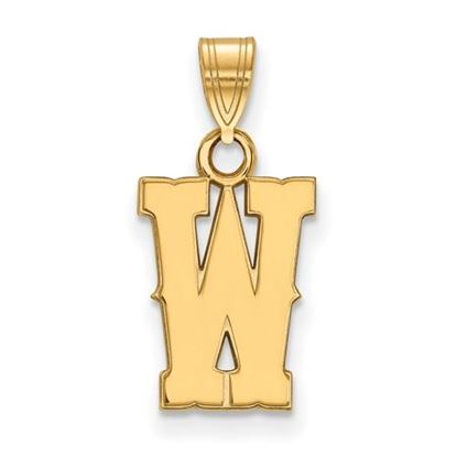 Picture of University of Wyoming Cowboys Sterling Silver Gold Plated Small Pendant