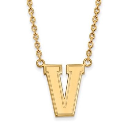 Picture of Vanderbilt University Commodores Sterling Silver Gold Plated Large Necklace