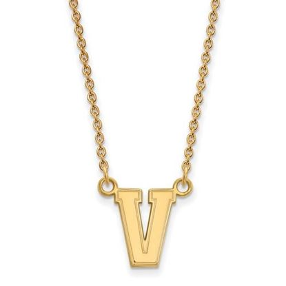 Picture of Vanderbilt University Commodores Sterling Silver Gold Plated Small Necklace