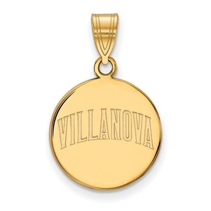 Picture of Villanova University Wildcats Sterling Silver Gold Plated Medium Disc Pendant