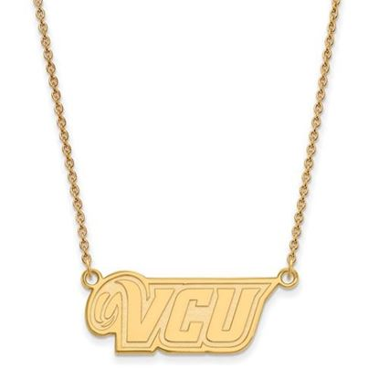 Picture of Virginia Commonwealth University Rams Sterling Silver Gold Plated Small Pend Necklace
