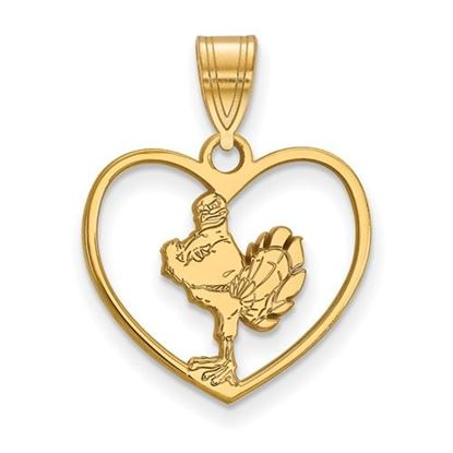 Picture of Virginia Tech Hokies Sterling Silver Gold Plated Heart Pendant