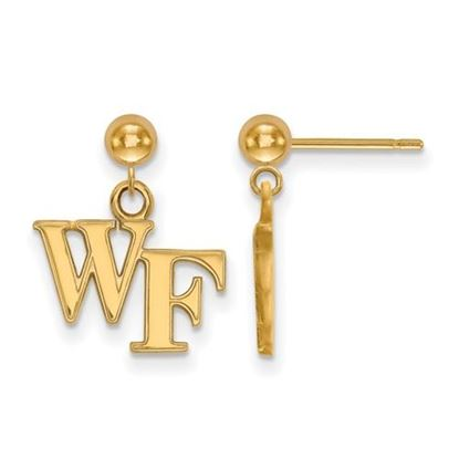 Picture of Wake Forest University Demon Deacons Sterling Silver Gold Plated Dangle Earrings