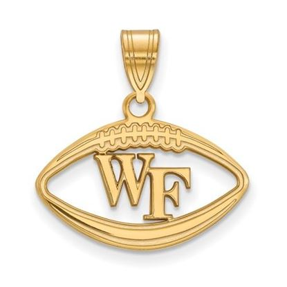 Picture of Wake Forest University Demon Deacons Sterling Silver Gold Plated Football Pendant