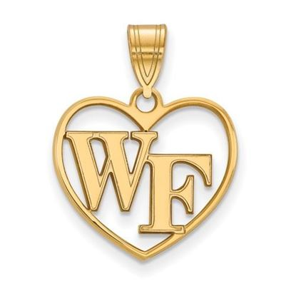 Picture of Wake Forest University Demon Deacons Sterling Silver Gold Plated Heart Pendant