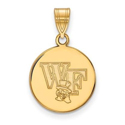 Picture of Wake Forest University Demon Deacons Sterling Silver Gold Plated Medium Disc Pendant