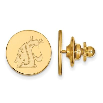 Picture of Washington State University Cougars Sterling Silver Gold Plated Lapel Pin