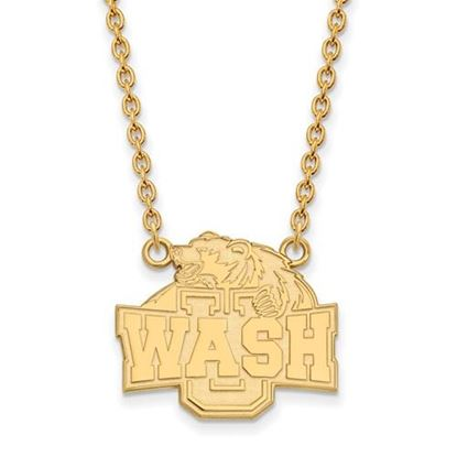 Picture of Washington University St. Louis Bears Bears Sterling Silver Gold Plated Large Necklace