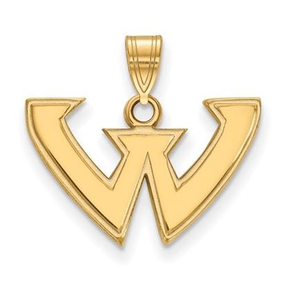 Picture of Wayne State University Warriors Sterling Silver Gold Plated Small Pendant