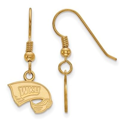 Picture of Western Kentucky University Hilltoppers Sterling Silver Gold Plated Extra Small Dangle Earrings