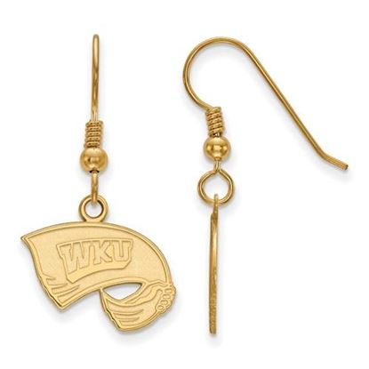 Picture of Western Kentucky University Hilltoppers Sterling Silver Gold Plated Small Dangle Earrings