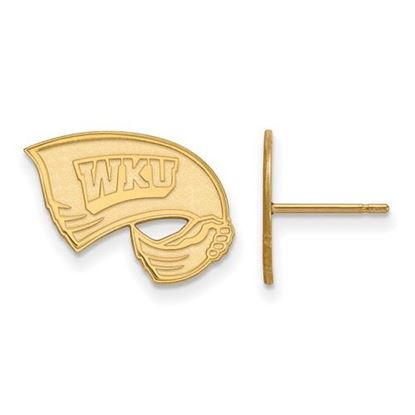 Picture of Western Kentucky University Hilltoppers Sterling Silver Gold Plated Small Post Earrings