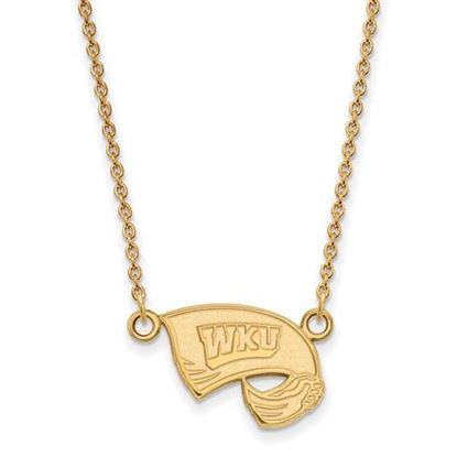 Picture of Western Kentucky University Hilltoppers Sterling Silver Gold Plated Small Necklace