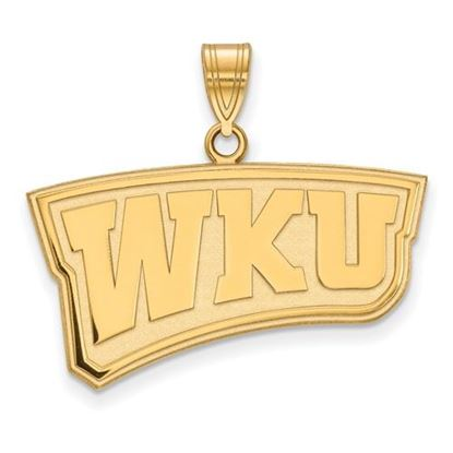Picture of Western Kentucky University Hilltoppers Sterling Silver Gold Plated Large Pendant