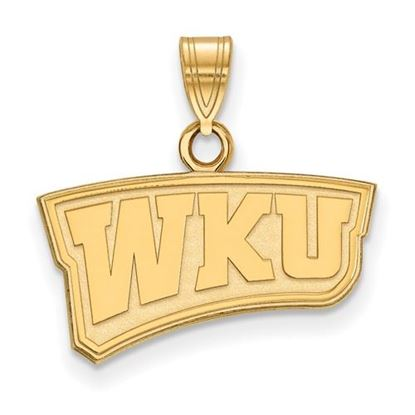 Picture of Western Kentucky University Hilltoppers Sterling Silver Gold Plated Small Pendant