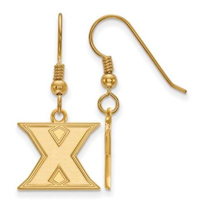 Picture of Xavier University Musketeers Sterling Silver Gold Plated Small Dangle Earrings